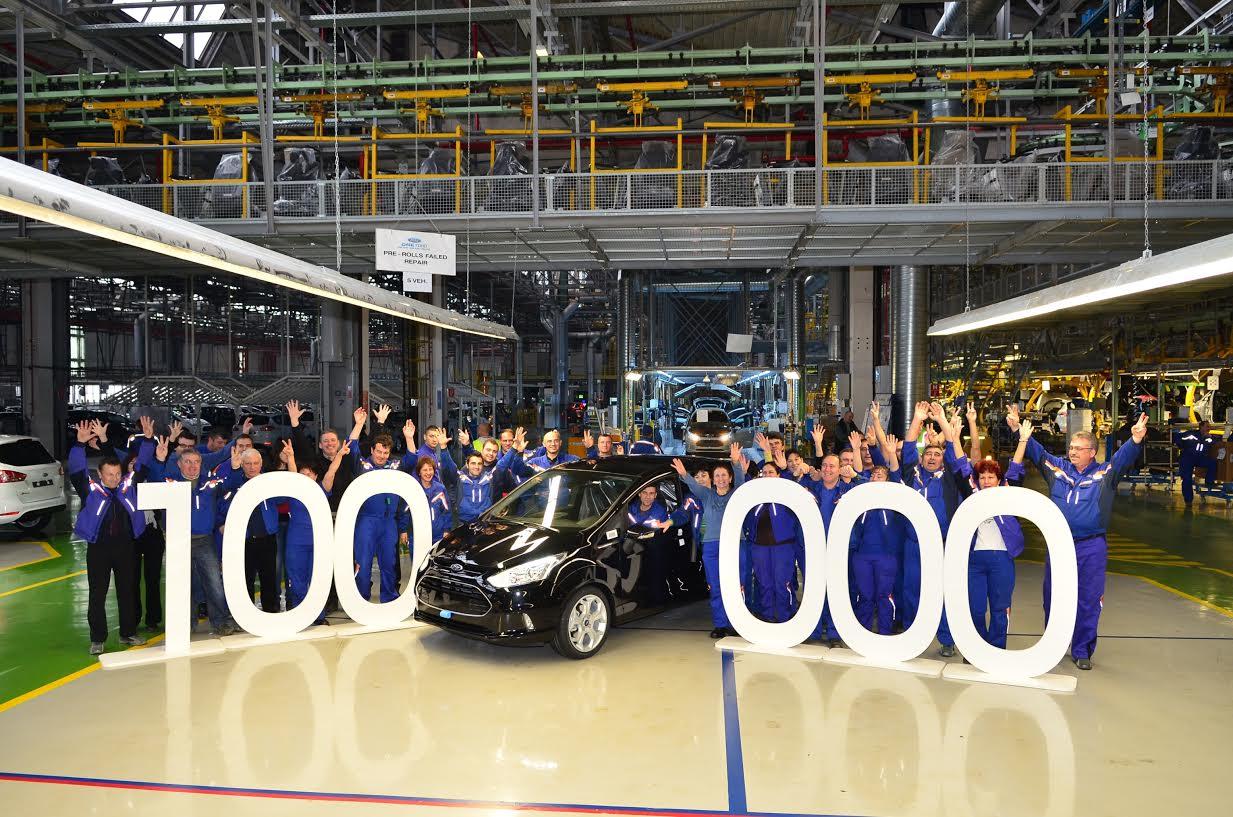 Ford a construit astazi vehiculul B-MAX cu numarul 100.000