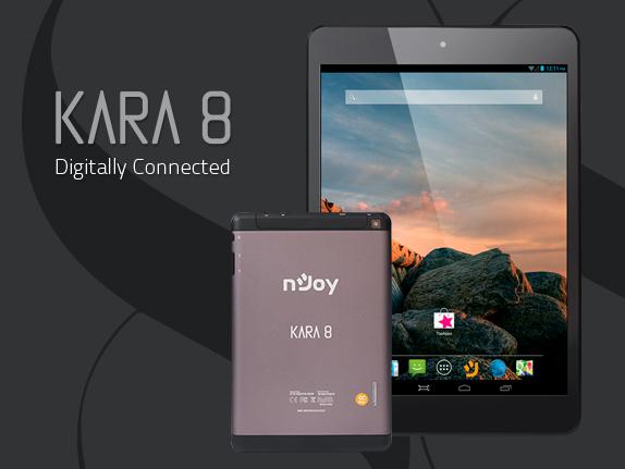 nJoy lansează tableta Kara 8 – a doua tabletă 3G din portofoliu