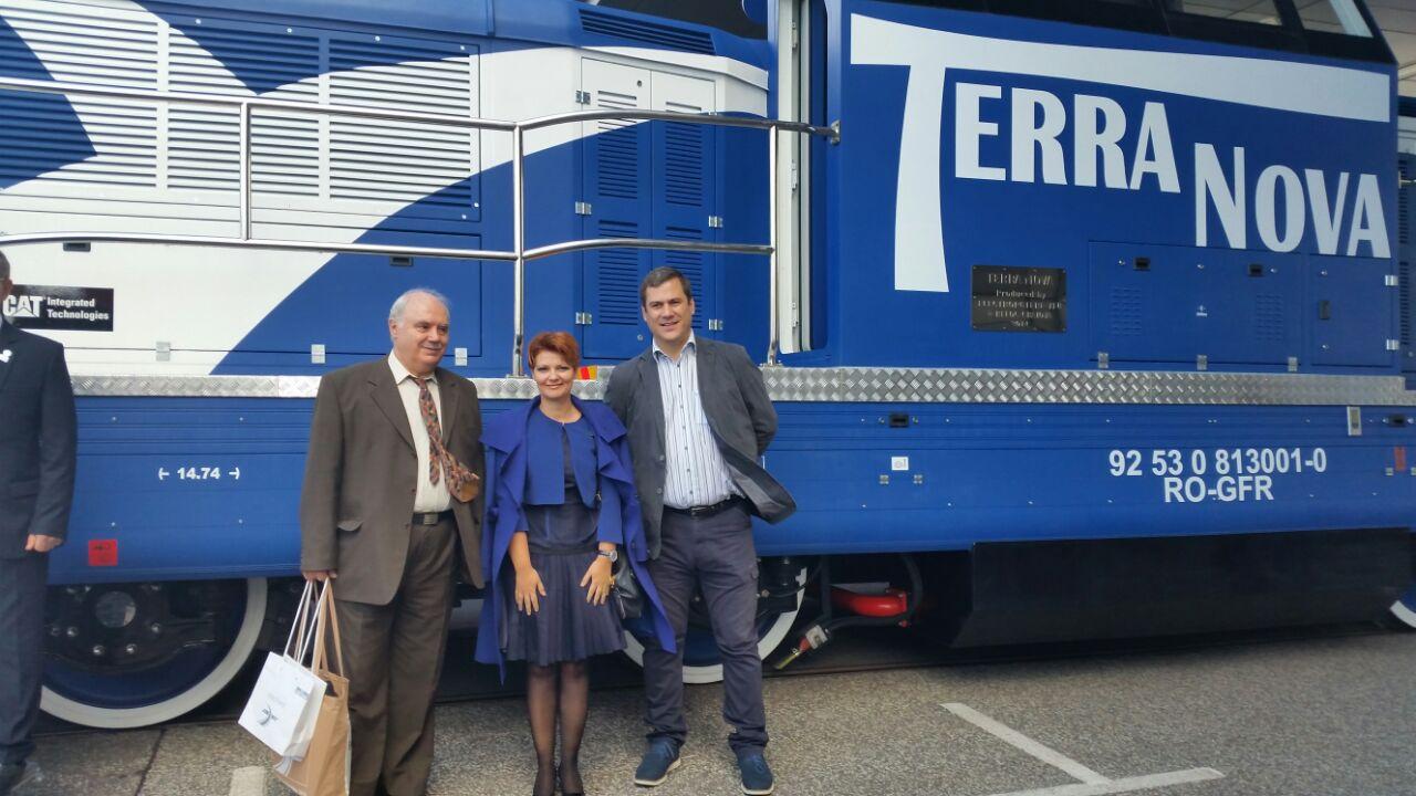 Primarul Craiovei, Lia Olguța Vasilescu, a participat azi la deschiderea Târgului InnoTrans, la Berlin, la invitația firmelor craiovene care produc trenuri și locomotive