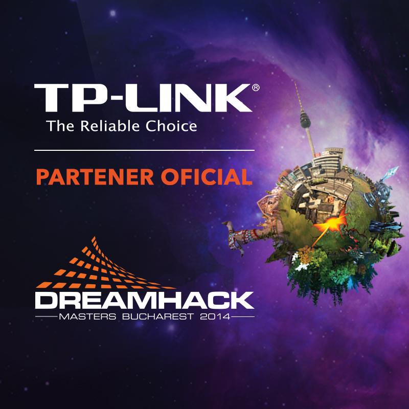 TP-LINK asigură reţeaua pentru competiţiile de gaming profesionist de la DreamHack Masters Bucharest 2014