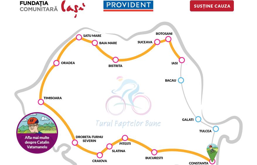 """Interviu cu protagonistul """"Turului Faptelor Bune"""", Catalin Vatamanelu: 2.217 kilometri pe bicicleta pentru copiii defavorizati"""