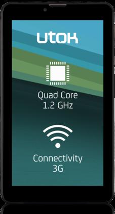 UTOK Hello 7Q: Tableta cu ecran de 7 inci, procesor Quad Core si conexiune 3G: unboxing