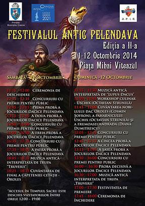 """JOCURILE DACICE PELENDAVA- ediţia a II-a 11-12 octombrie 2014  Craiova – Piaţa """"Mihai Viteazul"""""""