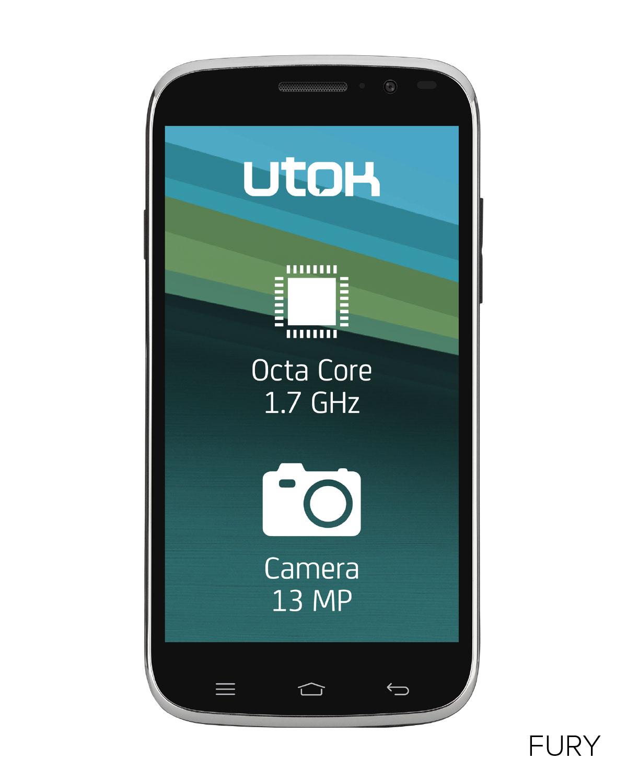 UTOK lanseaza FURY, un smartphone performant cu procesor octa-core
