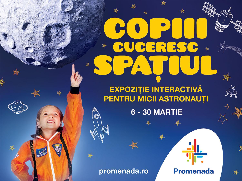 La mall Promenada, copiii vor putea face cunoștință cu primul cosmonaut român