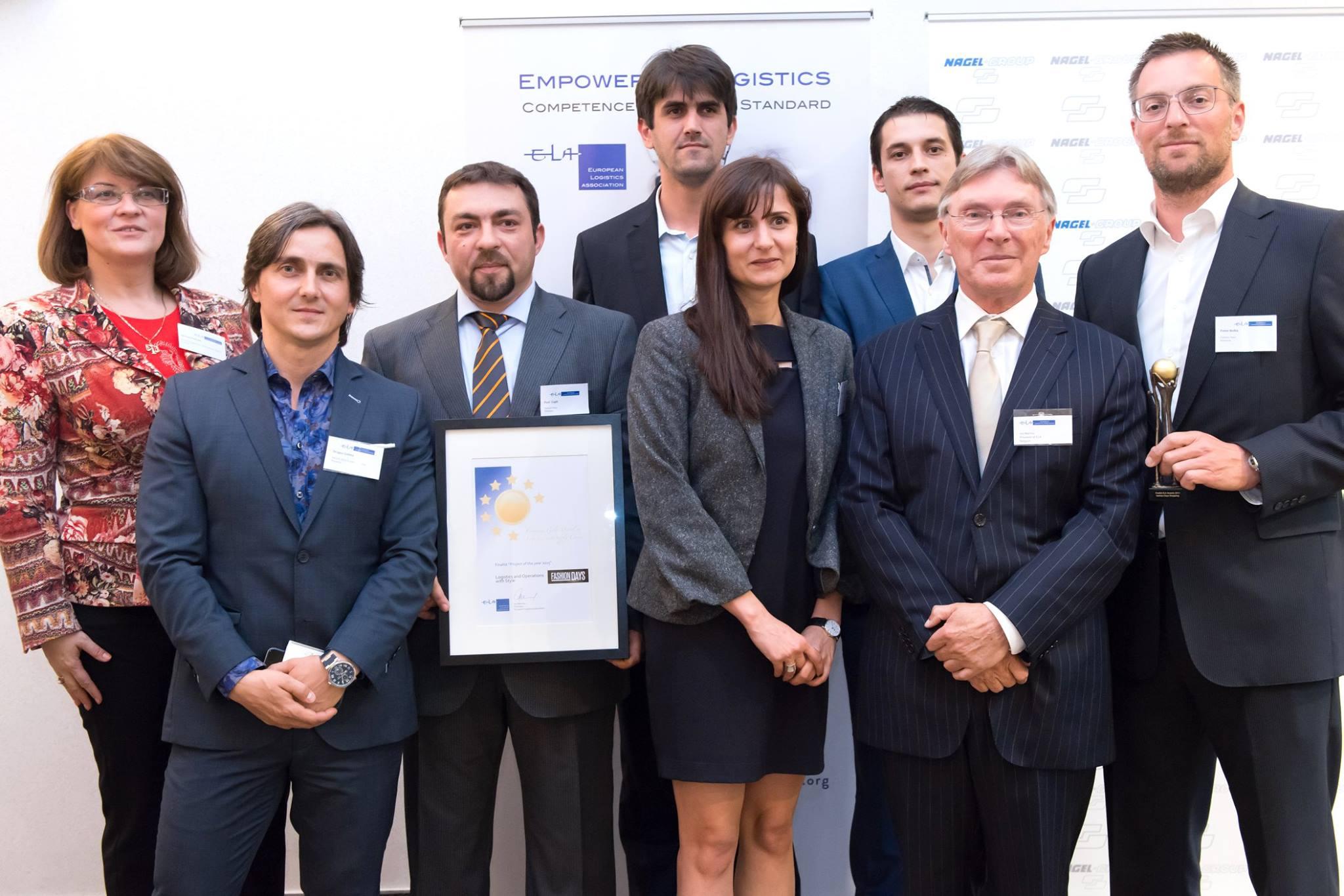 Fashion Days, premiată cu bronz pentru performanțele în logistică și operațiuni  de către Asociația Europeană de Logistică