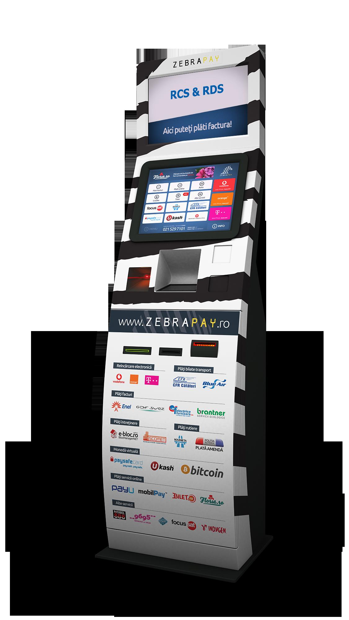 Abonaţii RCS & RDS își pot achita facturile la terminalele ZebraPay