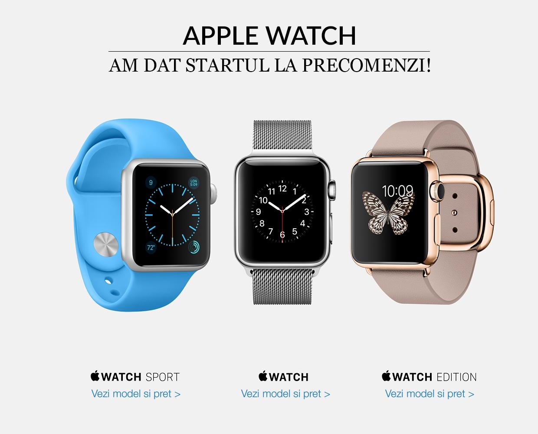QuickMobile a dat startul la precomenzi pentru cel mai așteptat gadget al momentului: Apple Watch disponibil de la 1.849,90 lei