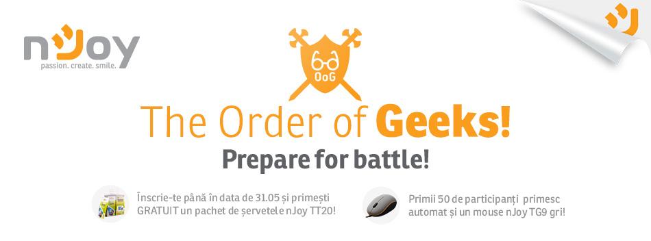 Inscrie-te in campania nJoy The Order of Geeks, testeaza cele mai noi gadget-uri si castiga!