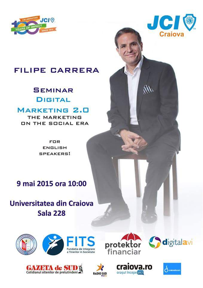 JCI Craiova organizeaza sambata 9 mai la ora 10:00 Seminar Marketing Digital 2.0 The Marketing of Digital Era