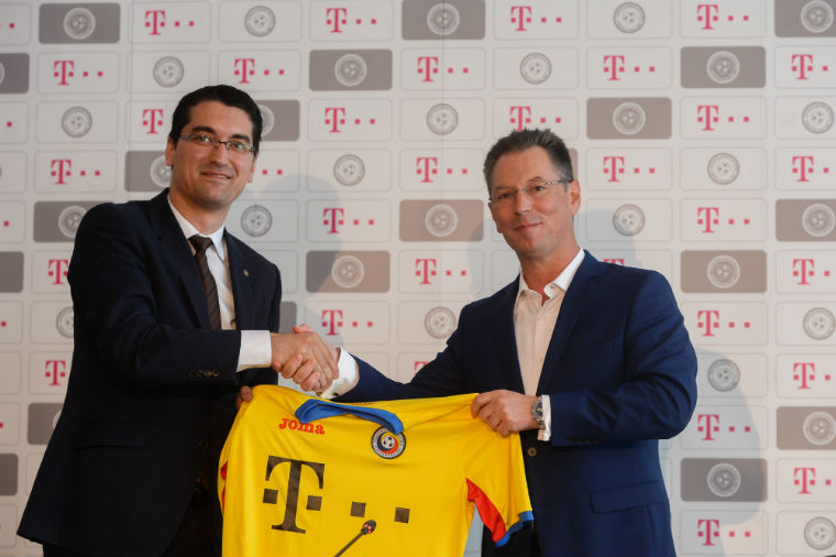 Telekom, sponsor principal al Echipei Naționale de Fotbal a României