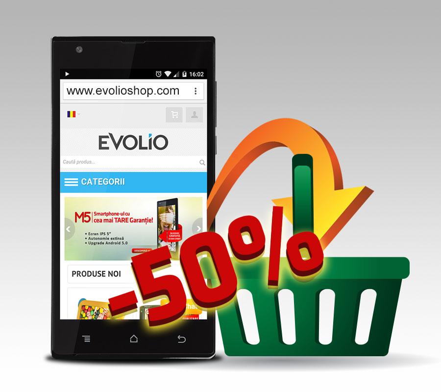 Evolio lansează versiunea mobilă a www.evolioshop.com