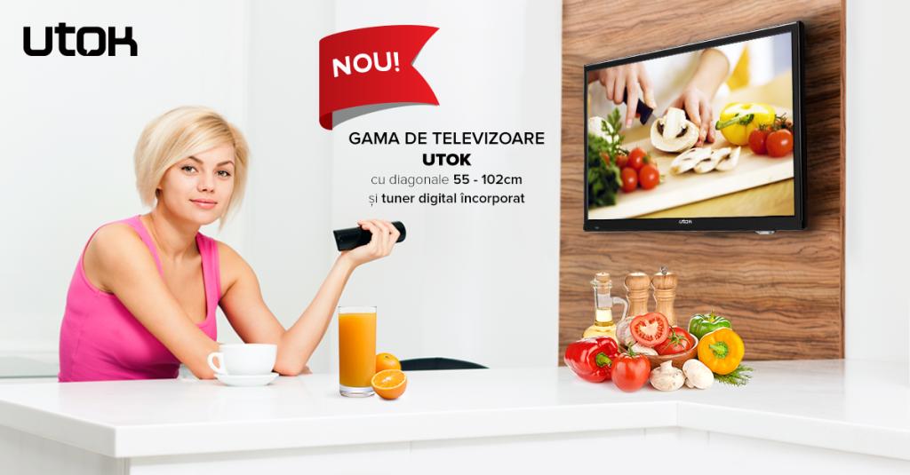 UTOK lansează gama de televizoare accesibile