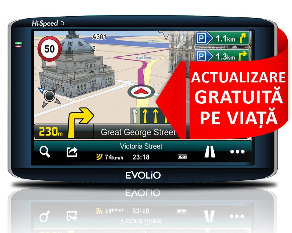 """Evolio lansează GPS-ul de 5"""" Full Europa cu actualizare gratuită pe viață a hărților"""