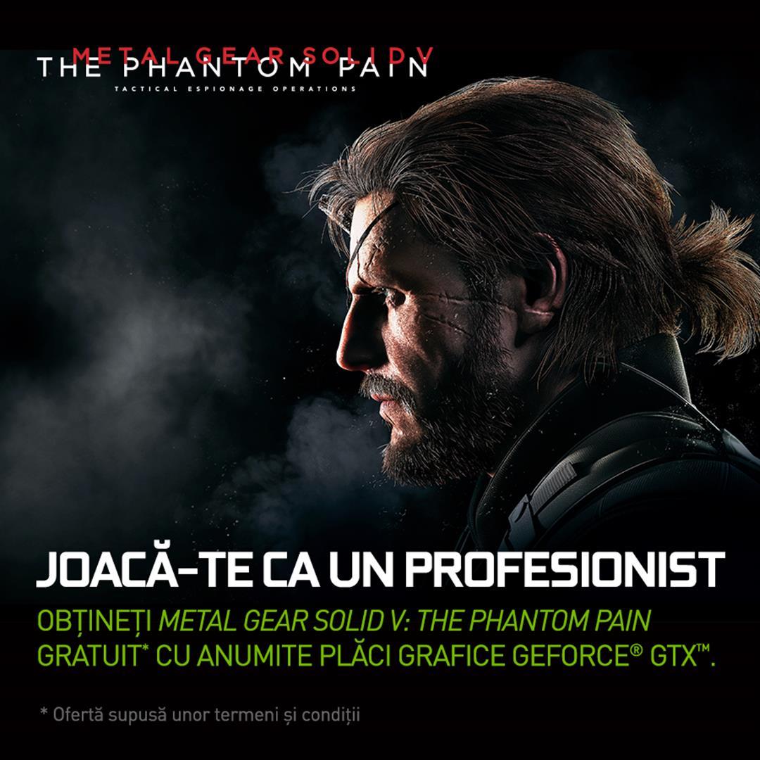 Metal Gear Solid V: The Phantom Pain vine gratuit cu plăcile grafice NVIDIA