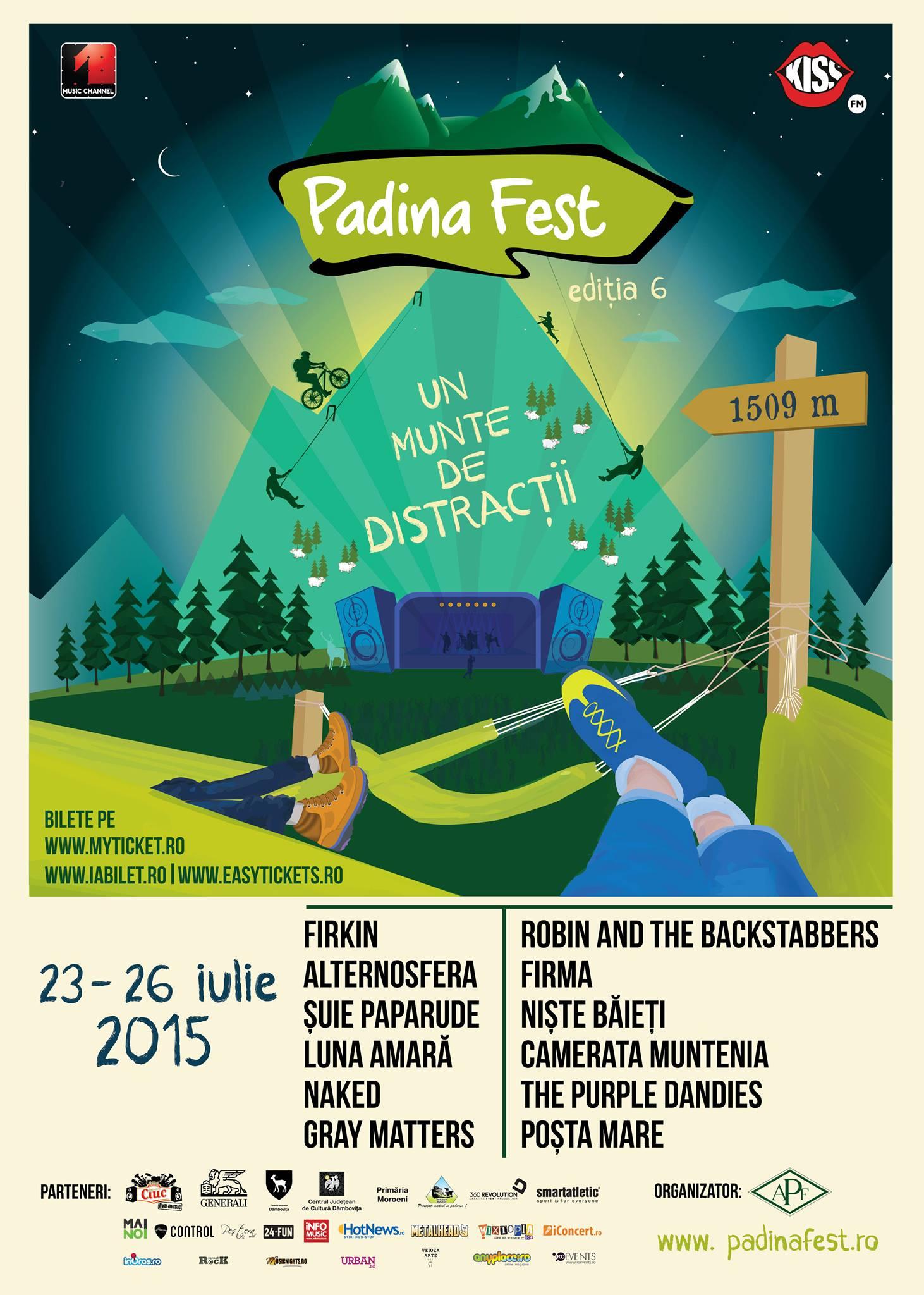 Săptămâna viitoare începe PADINA FEST, festivalul de la înălţime