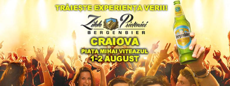 Craiovenii vor trăi cea mai tare experiență a verii!   Zilele Prieteniei Bergenbier revin pe 1 și 2 august în Piața Mihai Viteazul