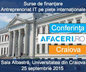 Pe 25 septembrie va avea loc cea de-a treia ediție a  Conferinței Afaceri.ro Craiova
