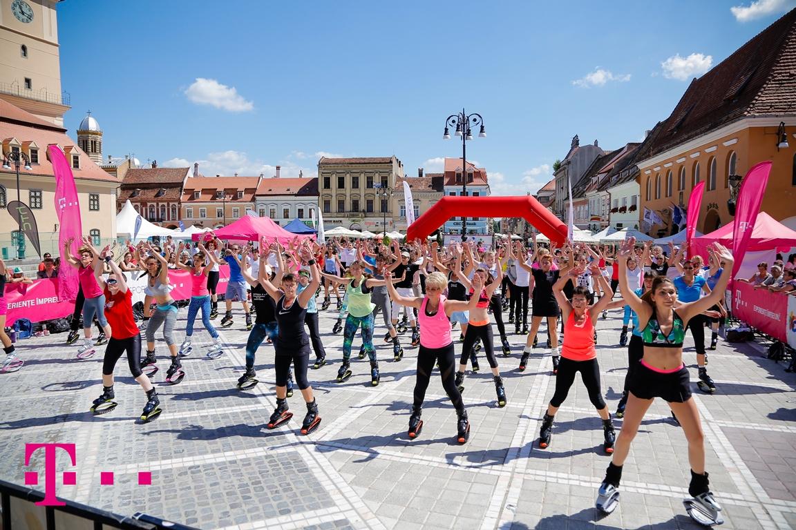 """Telekom anunță rezultatele proiectului """"Cea mai mare oră de sport"""", ediția 2015: peste 50.000 de participanți"""