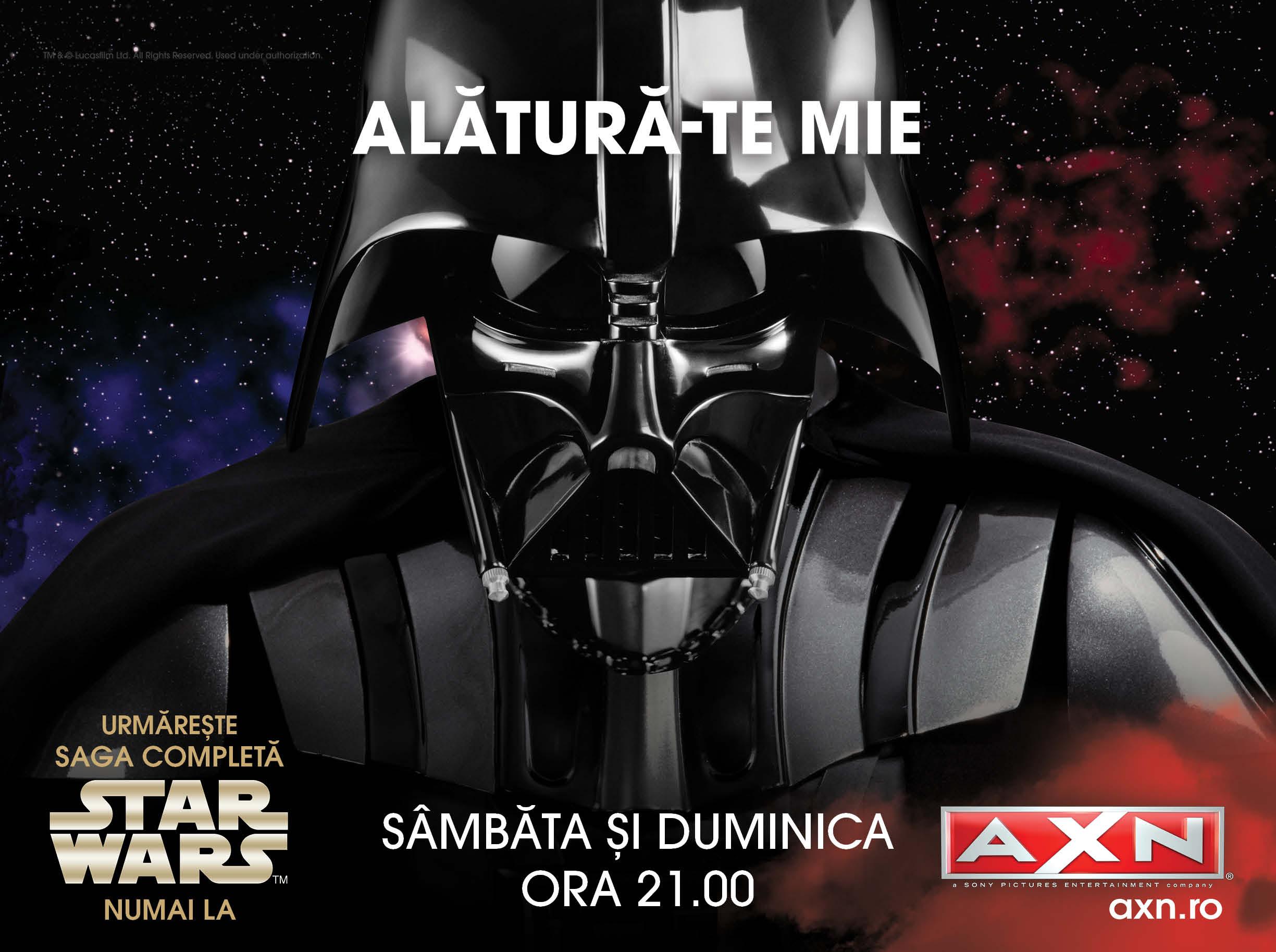AXN promovează premiera saga Războiul stelelor, în campania de toamnă 2015