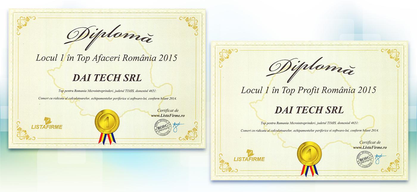 Compania DAI-TECH, deținătoare a brandurilor nJoy și RPC, a obținut locul I în Top Afaceri și Top Profit România.