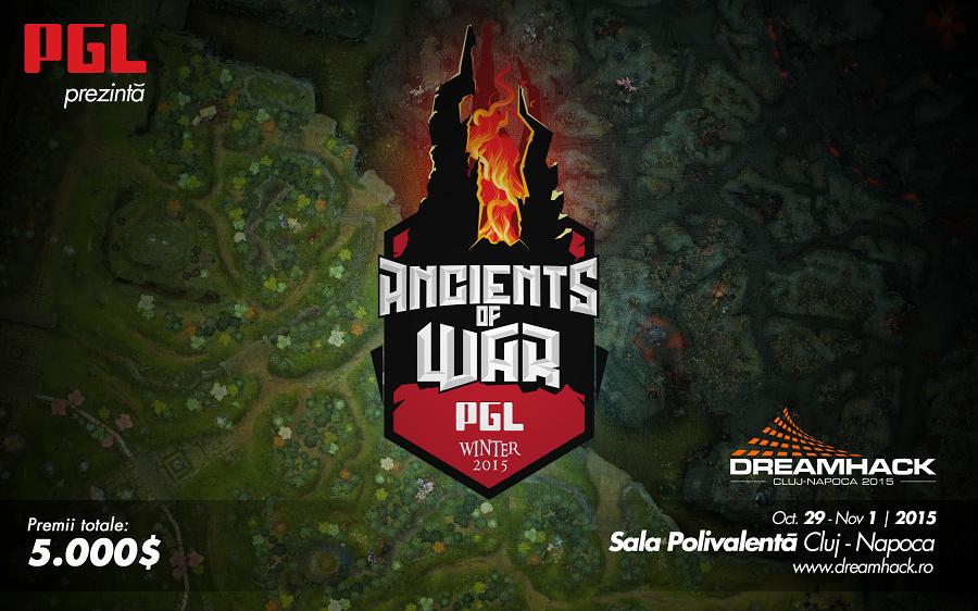 DOTA 2 la DreamHack Cluj-Napoca 2015: PGL Winter Ancients of War oferă premii de 5.000 de dolari
