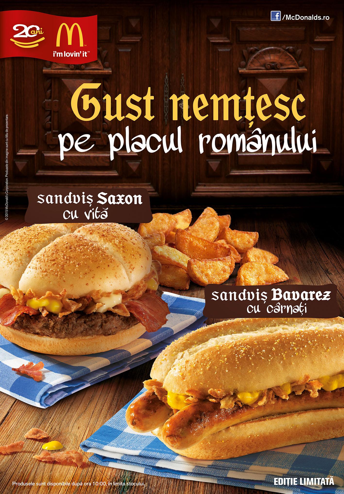 McDonald's lansează Campania Gust Nemțesc pe Placul Românului