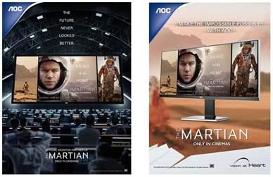Viitorul nu a arătat niciodată mai bine: AOC este partenerul oficial al noii producţii Marţianul