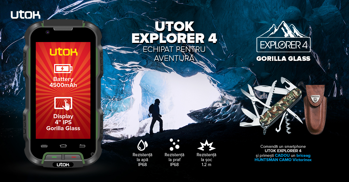 UTOK Explorer 4 – noul rugged smartphone al aventurierilor