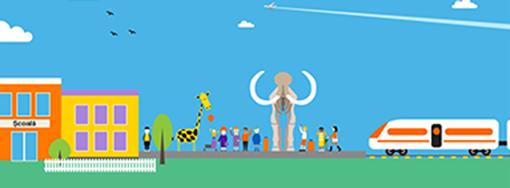 """Elevii de la Școala Gimnazială Filiași vizitează virtual Muzeul Național de Istorie Naturală """"Grigore Antipa"""" din București cu ajutorul Orange România"""