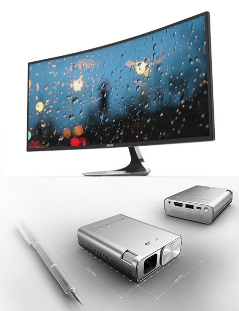 Monitorul curbat Designo MX cu diagonală de 34″ și rezoluție QHD a fost prezentat ASUS la CES 2016, alături de alte noutăți lifestyle