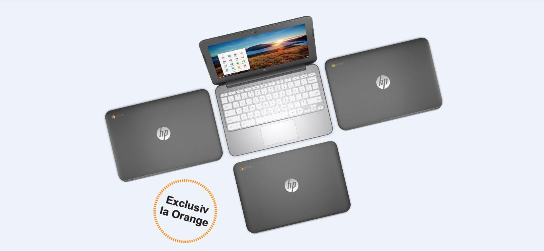 Laptopul HP Chromebook vine in Romania, exclusiv la Orange