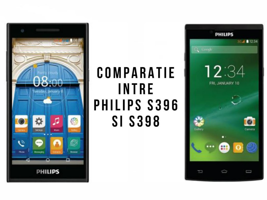 Comparatie intre Philips S396 si S398