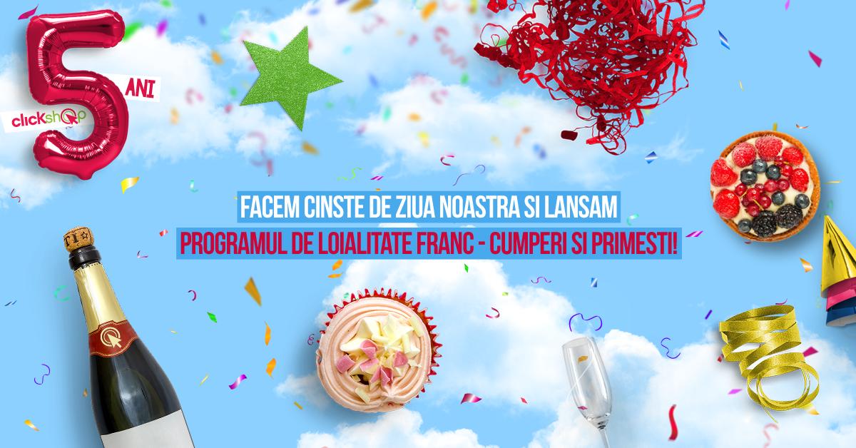 La a cincea aniversare, www.ClickShop.ro răsplătește clienții fideli