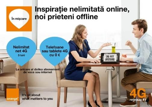 In aceasta primavara, clientii Orange sunt invitati sa se bucure din plin de internetul 4G