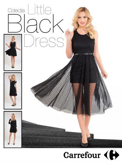 Carrefour aduce sub lumina reflectoarelor cea mai atemporală piesă vestimentară feminină din istorie: The Little Black Dress