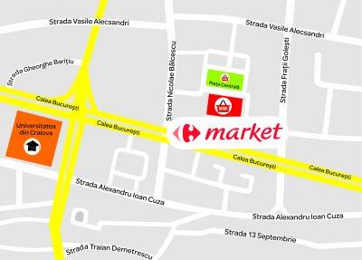 Grupul Carrefour deschide cel de-al 3-lea supermarket din Craiova,  Market Craiova Piața Centrală