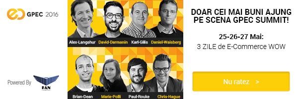Castiga 2 invitatii la GPeC Summit 2016, cel mai important eveniment de e-commerce din Romania!
