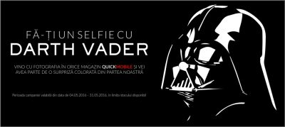 Fa-ti un selfie cu Darth Vader!