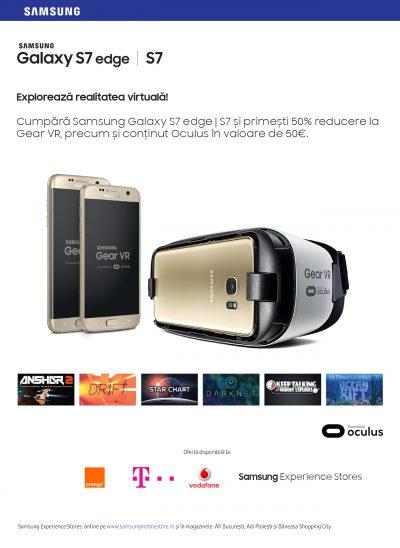 Samsung dezvoltă ecosistemul Galaxy S7 oferind mai mult conținut pentru Gear VR