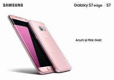 Smartphone-urile Galaxy S7 și S7 edge, disponibile și în variantele Pink Gold și Silver Titanium