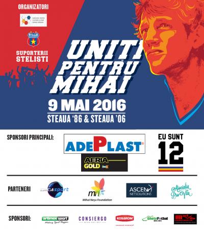 """""""Uniţi pentru Mihai Neşu"""" – Biletele pentru meciul care le va aduce faţă în faţă pe Steaua 1986 şi Steaua 2006 au fost puse în vânzare"""