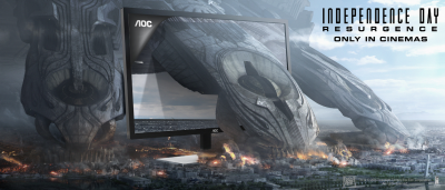 Blockbuster-ul Independence Day se întoarce pe ecrane cu brandul AOC în calitate de partener oficial