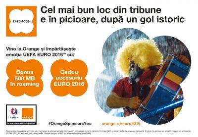 Orange lansează oferta dedicată UEFA EURO 2016  și aduce noi surprize pentru EURO 2016
