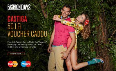 Clienții Fashiondays.ro, premiați pentru alegerea unei noi experiențe de plată cu cardurile MasterCard și Maestro