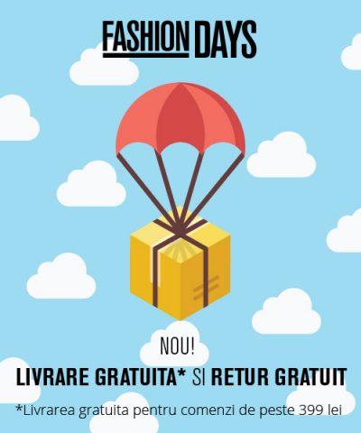 Livrare gratuită și retur gratuit pentru clienții Fashion Days
