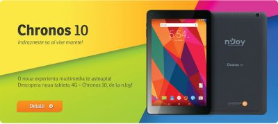 Chronos 10 – Noua tableta 4G cu display de 10 inch de la nJoy