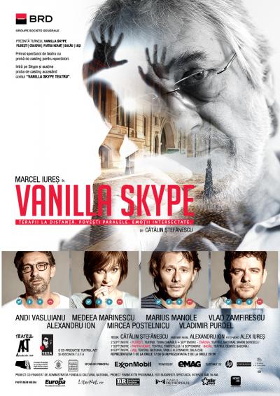 BRD prezintă turneul Vanilla Skype:  Primul spectacol de teatru cu casting pentru spectatori