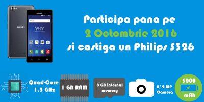 Concurs – Castiga un smartphone Philips S326!