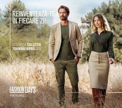 Reinventează-te în fiecare zi cu Fashion Days: campania de lansare a sezonului  Toamnă – Iarnă 2016